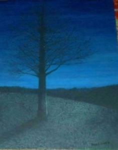 BLUE tree at dusk BLOG