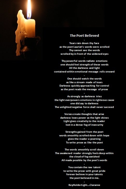 Keyholder Light  wall poem