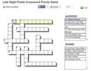 crossword for page