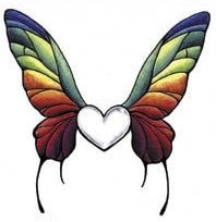 heart with butterfly wings